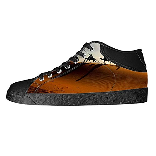 Dalliy SCH?Ne w ¨ ¹ stenlandschaft Men s Canvas Shoes Scarpe Lace Up High Top Sneakers a vela panno scarpe Scarpe di tela sneakers b