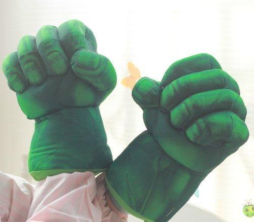 Hulk Kostüm Riesen - Der Hulk Schmetter Hände Riesen Fäuste weich Plüsch Handschuhe Paar Kostüm Grün