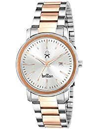 BRITTON Date Display Analogue Silver Dial Men's Watch -BR-GR0046-SLV-CPR