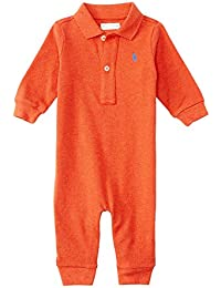 936b2b0ddd Ralph Lauren Baby Boys Cotton Mesh Polo L S Coverall (6 Months