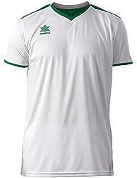 Luanvi Match Camiseta Deportiva de Manga Corta, Hombre, Blanco (0351), XXS