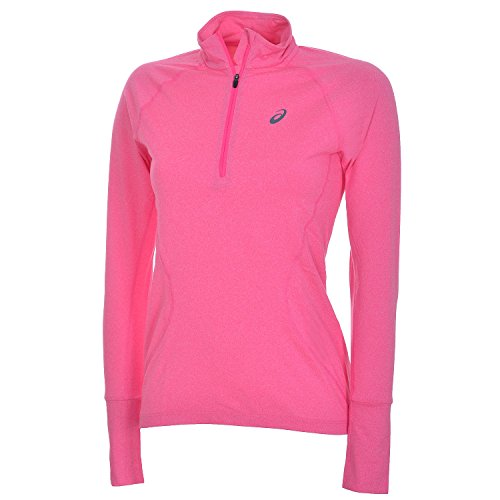 Asics Ladies Running Long Sleeve Jersey 1/2 Jip, Pink Glow, Large rosa