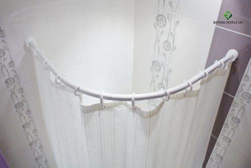 curved bath shower curtain rod rail in white 90 x 90cm 27mm diameter white amazoncouk kitchen u0026 home