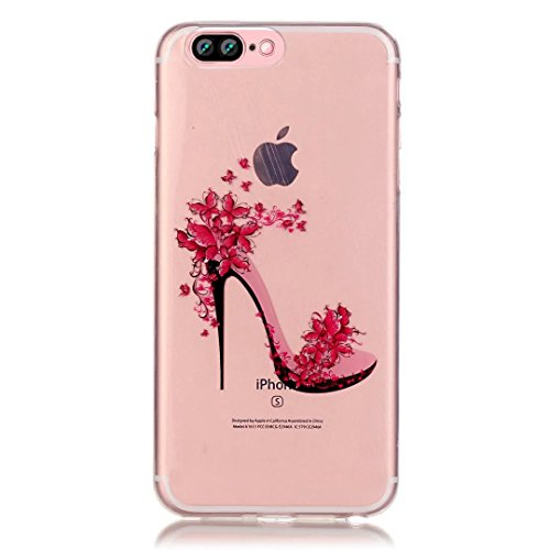 Vandot iPhone 7Plus Case ultra-thin ultra-light Slim Schutzhülle TPU Silikon Bumper Case Cover Hart PC Kunststoff Schutzhülle für iPhone 7Plus etui-encre D 'Art großen Blütenblätter Color 34
