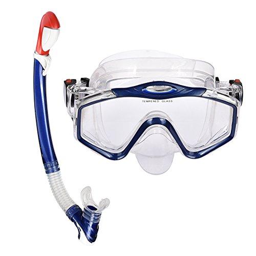 Fastar Schnorchel Set, Tauchen Schnorcheln Maske mit Anti-Fog Brillen und eine Schnorchel Paket Set Für Schwimmen unter Wasser Sport Damen und Herren, blau Wasser-brille Mit Schnorchel