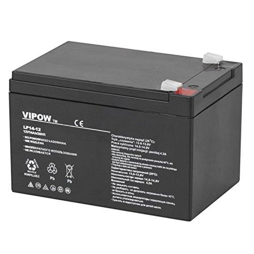 Vipow Gelakku AGM Gelakkumulator Ersatzbatterie Gel Akku Batterie (12V 14Ah)