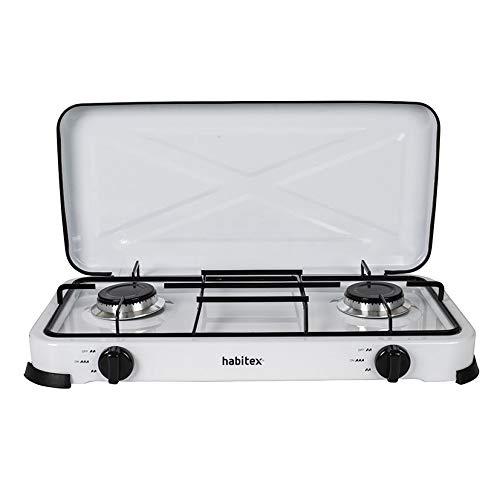 Habitex Cocina PORTÁTIL Gas 2 Fuegos