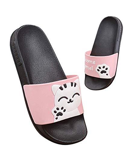 Ciabatta da spiaggia e piscina per ragazzi e ragazze scarpe da bagno estate pantofole sandali a punta aperta adulti e bambini, 36 eu, rosa