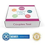 Advanced Bio Resonance Couples Testing Kit | Nuts, Gluten, Lactose, Pollen | Detects Over 600 Items | for 2 People, 2 Tests