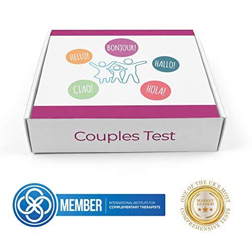 Erweiterte Gruppen Allergie Test| Nahrungsmittelunverträgloichkeits Test Kit | Nüsse, Gluten, Lactose, Pollen | Erkennt 600 Unverträglichkeiten | Für 2 Personen, 2 Teste