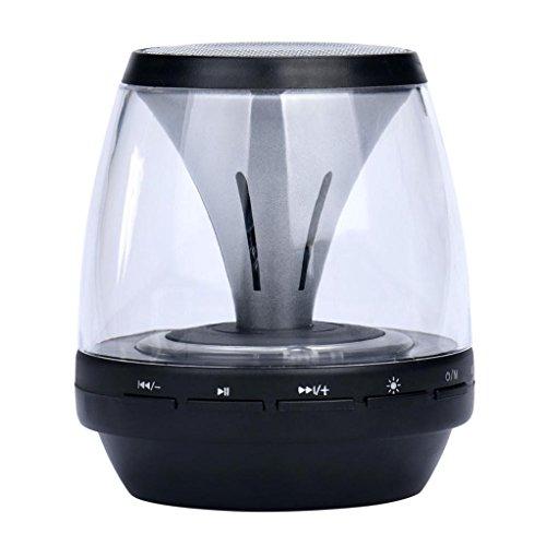 Lautsprecher ,Barbarer Tragbar Kabellos Bluetooth Draussen Stereo Lautsprecher (Rosa) (schwarz)