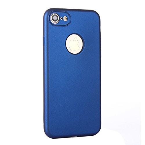 Suyan para el iPhone 7360gradi di olio a prova di urti Silicone Back Case + PC Copertura combinazione caso Protector Blu scuro