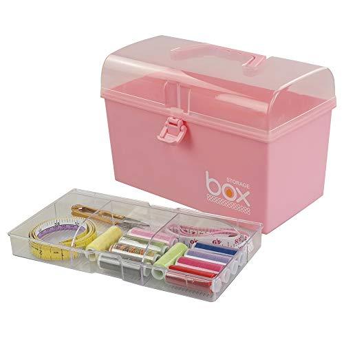 41t 2Dns0vL - Rinboat Caja Botiquín Medicamentos de Plástico para Primeros Auxilios, Color Rosa, 1 Unidad
