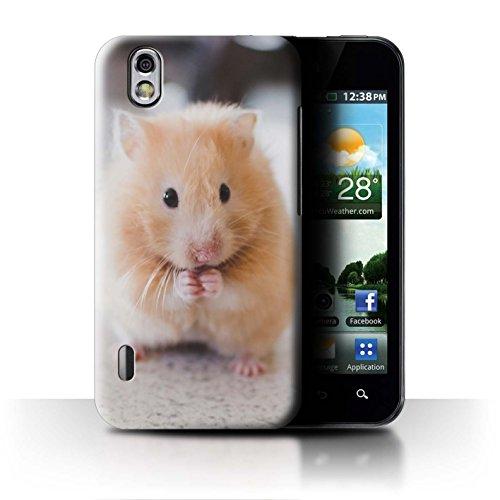 Stuff4 Hülle / Case für LG Optimus Black P970 / Goldener Hamster Muster / Niedlich Haustiere Kollektion