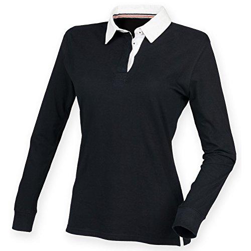 Front Row Fron Row - Maglietta a Maniche Lunghe - Rugby - Donna Blu navy