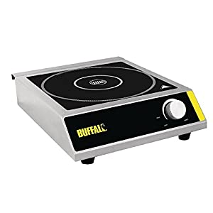 41t 3OTrvoL. SS300  - Buffalo Induction Hob 3000W 100X330X430mm Stainless Steel Cooktop Hot Plate