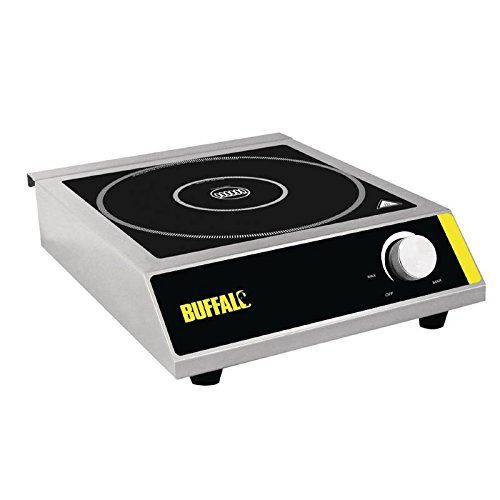 41t 3OTrvoL. SS500  - Buffalo Induction Hob 3000W 100X330X430mm Stainless Steel Cooktop Hot Plate