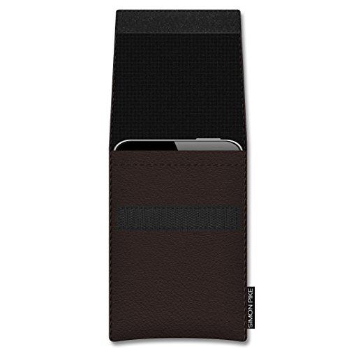 SIMON PIKE Apple iPhone 7 Plus 6/6S Plus Ledertasche Sidney 01 in schwarz Leder Leder, handgefertigte Smartphone Leder Tasche aus echtem Leder braun Leder Leder (Muster 01)