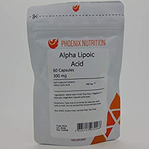 41t 3fMO58L. SS300  - Alpha Lipoic Acid 300mg x 60 Capsules - ALA - Powerful Antioxidant