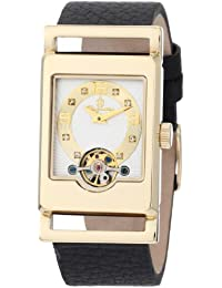 Burgmeister Armbanduhr für Damen mit Analog Anzeige, Automatik-Uhr und Lederarmband - Wasserdichte Damenuhr mit zeitlosem, schickem Design - klassische, elegante Uhr für Frauen - BM510-282 Delft