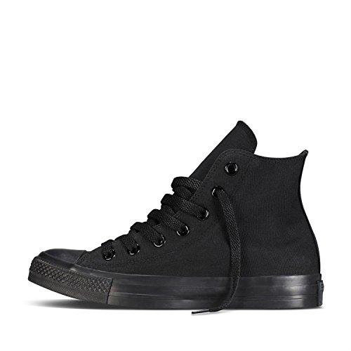 Converse Men's Chuck Taylor All Star High Top Sneakers (6.5 B(M) US Women / 4.5 D(M) US Men, Black Monochrome) (Converse Black Womens High-tops)