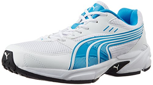 Puma Men's Atom Fashion II DP Quarry, Cloisonné, Periscope, White and Blue Mesh Running Shoes - 11 UK /India(46EU)  available at amazon for Rs.1484