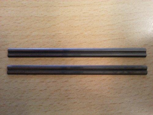 10 Stück HM Hobelmesser Maße: 82x5,5x1,1 mm, W003, für Elektro-Hobel, für Holz geeignet, MADE IN GERMANY