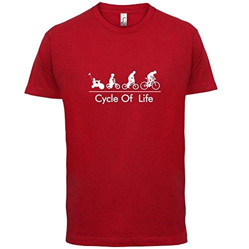 Cycle of Life - Herren T-Shirt - 13 Farben Rot