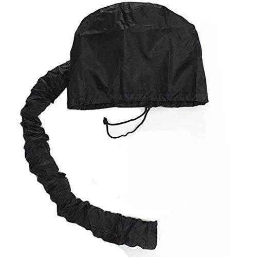 NSWD Tragbar Motorhaube Mit Kapuze Haar Trockner Befestigung, zum Haar Styling, Haarfarbe, Haarzustand Pflege Einfach zu Bedienen für Benutzen mit Haartrockner,Black - Soft Bonnet Hair Dryer