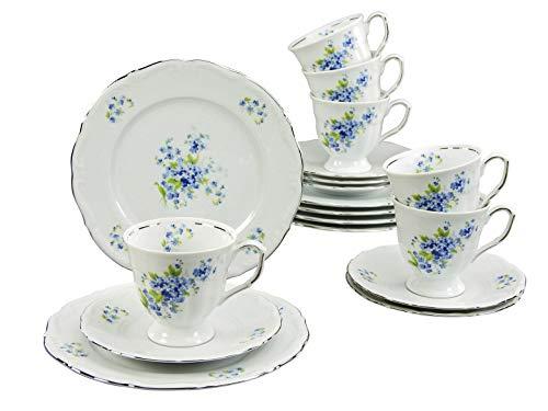 Creatable 17902 Serie Maria Theresia VIOLA, Geschirrset Kaffeeservice 18 teilig, Mehrfarbig