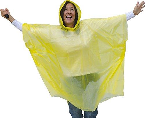 Regenponcho Erwachsene Regenschutz Unisex mit Kapuze Einheitsgröße