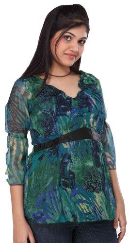 Morph Maternity - Classy Printed Chiffon Maternity Top / Maternity Wear / Pregnancy Wear