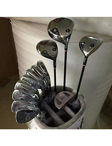 HDPP Golfschläger Nagelneuer Golf-Voller Satz-Frauen-Golfclub-Fahrer + Fairway-Holz + Eisen + Putter-Graphit-Schaft Mit Kopfbedeckung -