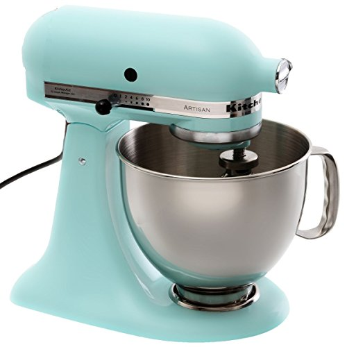 KitchenAid 5KSM150PSEIC - Batidora, 220-240 V, 50-60 Hz, 221 x 358 x 353 mm, azul