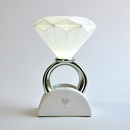 Valentinstag Geschenk Romanze Paar Lampe, 14. Februar Romantik Heiratsantrag Liebe Licht, intelligente Stimme Diamant Ring Lampe, USB-Atmosphäre Nachttisch Schlafzimmer Wohnzimmer Hotel Couchtisch Lampe Versteckte Stimme Aufnehmen