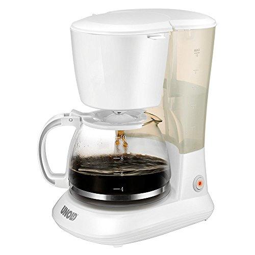 Unold 28020 Kaffeeautomat Flavour, Kannenvolumen circa 1.2 L für 10 Tassen, 750 watts, weiß