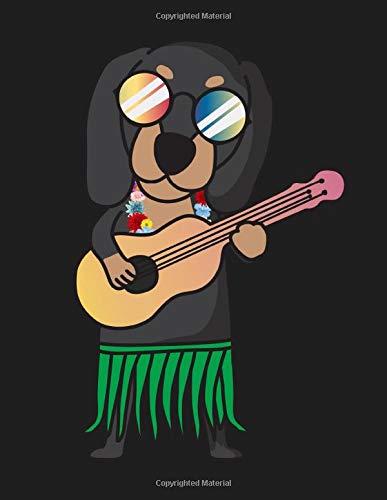 Dachshund Dog Ukulele Luau Funny Hawaii Ukulele Tab Notebook: Ukulele Music Tab Notebook