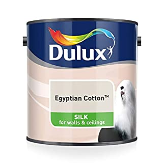 Dulux Silk Emulsion Paint For Walls And Ceilings - Egyptian Cotton 2.5L