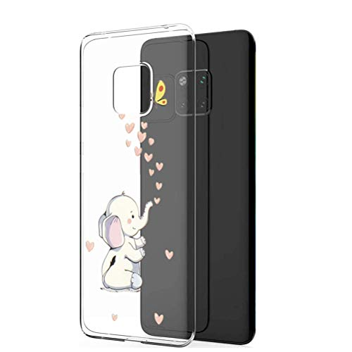 9-evei Hülle for Huawei Mate 20 Pro, Huawei Mate 20 Clear Protective Tasche Hülle TPU Silikon Panda Dinosaurier Design Handyhülle Transparent Schutzhülle für Huawei Mate 20 (17, Mate 20 Pro) (Dinosaurier-ladegerät Ultra)