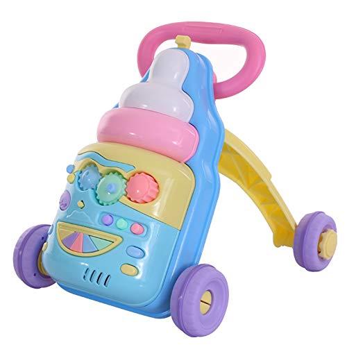 WQING Baby Walker Baby Push Walkers 2-in-1 als Push Pull Spielzeug Walker Wagon Spielzeug für Kinder Kleinkind 1-3 Jahre (In Für Walker Babys Einem 2)