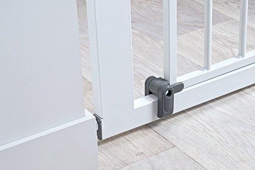 Safety 1st Quick Close ST Treppenschutzgitter, extra sicheres Metall-Türschutzgitter zum Klemmen, weiß, 73-80 cm, Möglichkeit der Verlängerung bis zu 136 cm verlängerbar (ab ca. 6-24 Monate) - 5