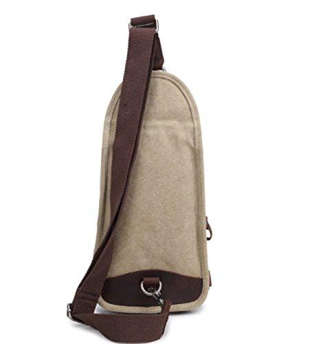 BULAGE Tasche Leinwand Männer Beiläufige Beutel Brusttasche Retro Schulter Freizeit Vertikalschnitt Einfach Atmungsaktiv Praktisch Beige
