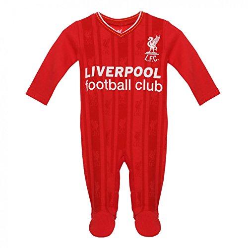 FC Liverpool Baby Sleepsuit Retro Trikot Home 17/18 Strampler (red, 9-12) (Retro Home Trikot)