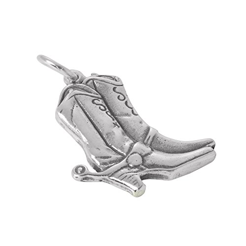 TheCharmWorks Sterling Silber Cowboystiefel Charm