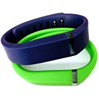 Comparador de precios ! Small S 1pc Green 1pc Navy (Blue) Replacement Bands + 1pc Free Small Grey Band With Clasp for Fitbit FLEX Only /No tracker/ Wireless Activity Bracelet Sport Wristband Fit Bit Flex Bracelet Sport Arm Band Armband by Pl - precios baratos