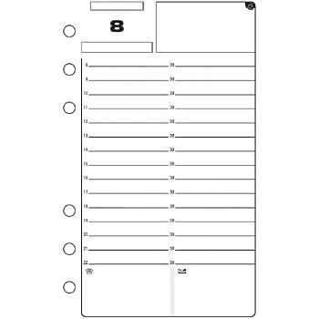 Exacompta 18213 Recharge perpétuelle pour organiseur Exatime 17 92 Blanc