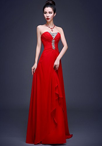 Vimans -  Vestito  - linea ad a - Donna Red