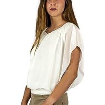Mers Style - Blusa Camiseta sin Mangas Elegante, Mujer