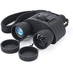Infrarrojos Visión Nocturna prismáticos qiyat 4x 50HD Digital de caza por infrarrojos telescopio con pantalla TFT LCD de 1,5pulgadas, 980m/300M Rango de visión, impermeable, 5MP cámara de fotos HD y 720p Grabadora de vídeo