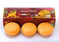 Kerala Sandal Soap with Virgin Sandalwood Oil Trio Classic 3 in 1(Natureloc)